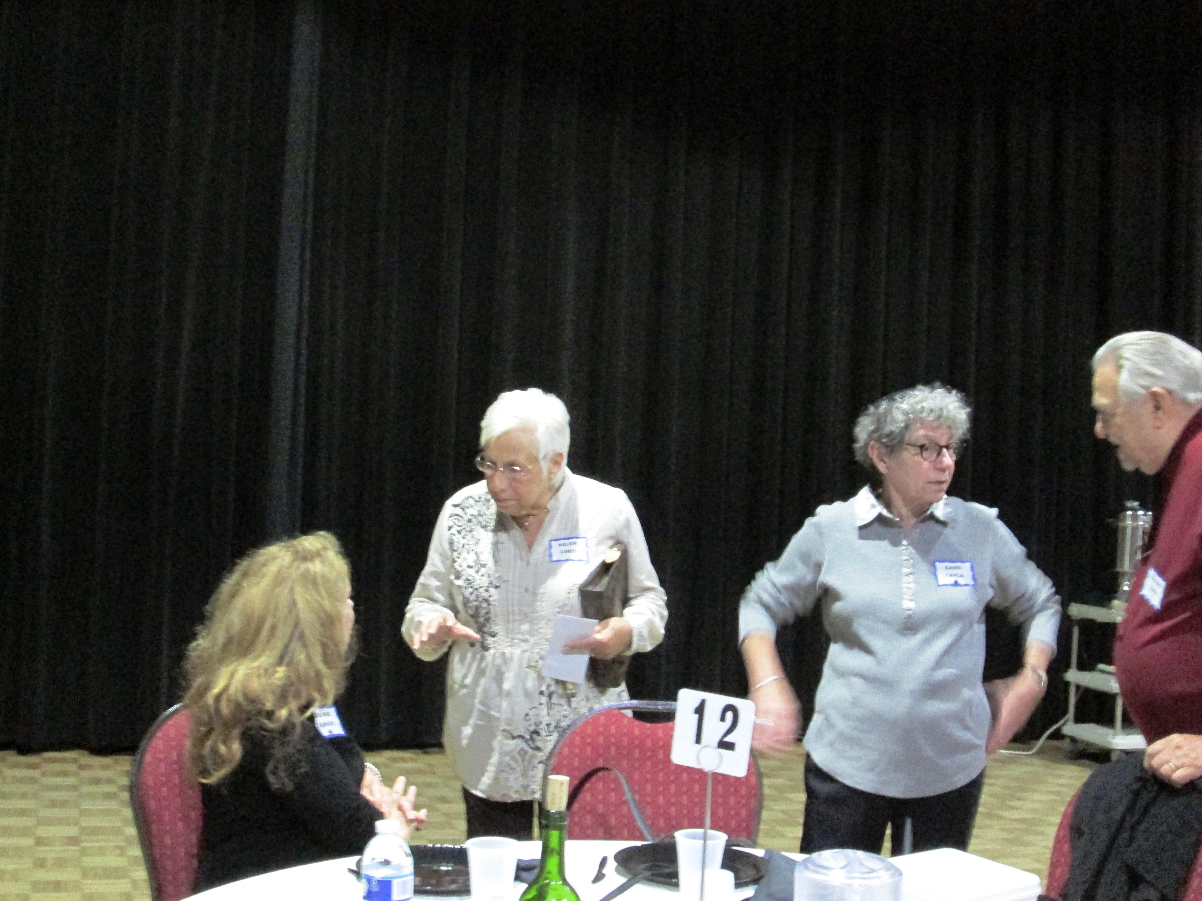 Jeanne Shanin Arlene Cohen Rabbi Freedman Bernie Cohen